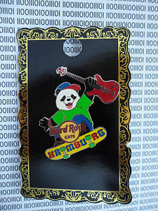 Hard-Rock-Cafe-Hamburg-Panda-Bear-with-Guitar-on-Skateboard-NEW-Pin-on-Card