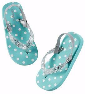 9851cb022 carter s toddler baby girl turqupise polka dot flip flop slipper ...
