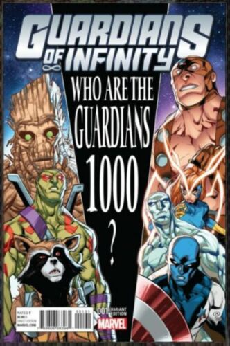 Guardians of Infinity #1 Marvel Comics 2016 Barberi 1//25 Variant Cover
