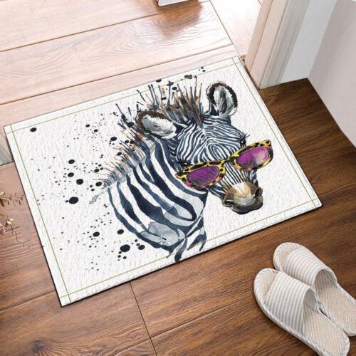 """Zebra avec Sunglasse Tapis de salle de bain Tapis antidérapant étage Porte Intérieur Tapis 16x24/"""""""