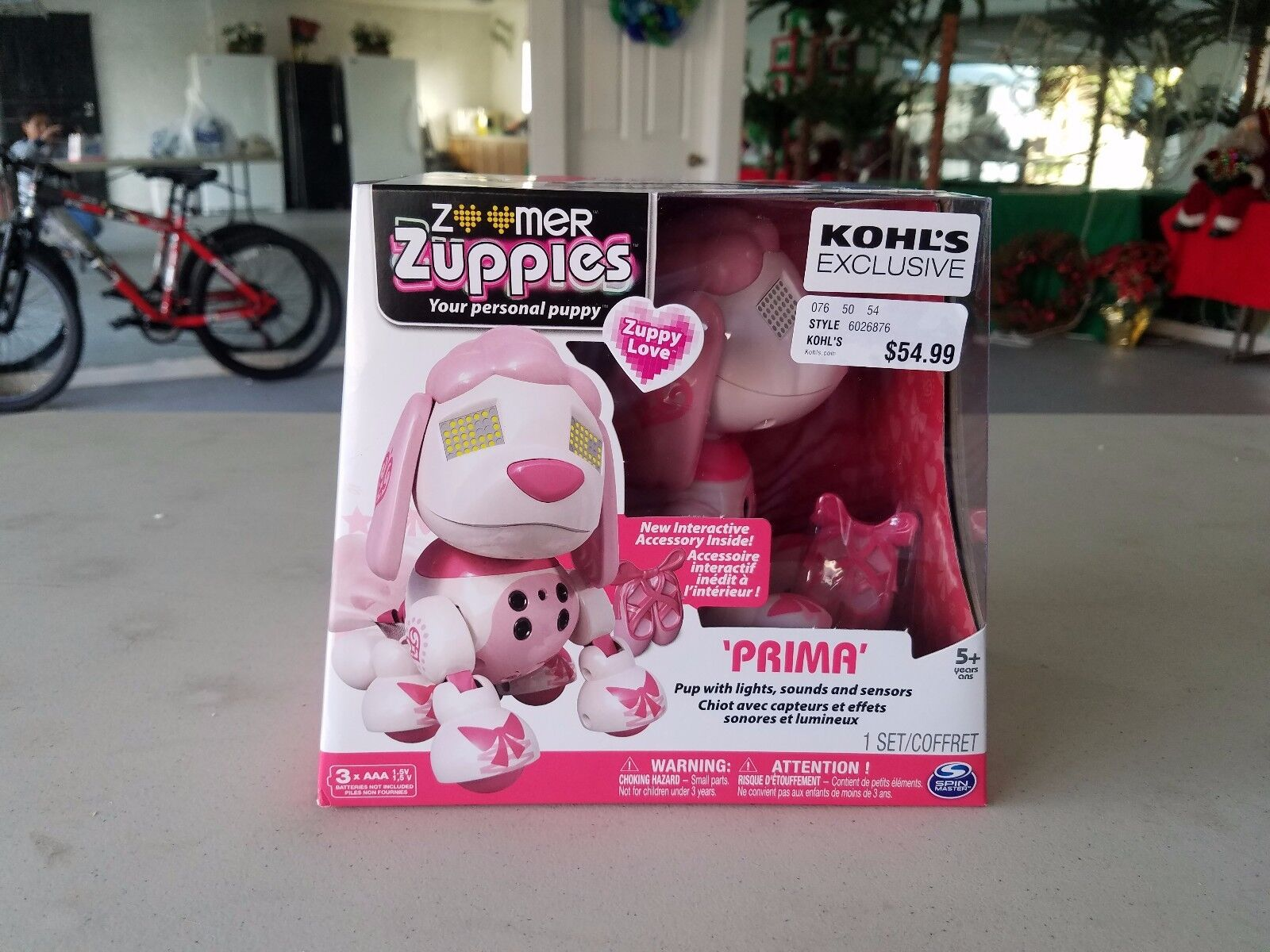 Zoomer Zuppies Prima the Btuttiet Poodle Pup kohl's exclusive nuovo