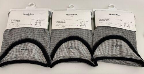 Cotton blend Thermal Shirt Long Sleeve XL NEW Gray 3-PACK Goodfellow