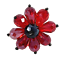 Red-Rhinestone-Beads-Flower-Ring-Jewelry-Stretch-Band-R12360 thumbnail 2
