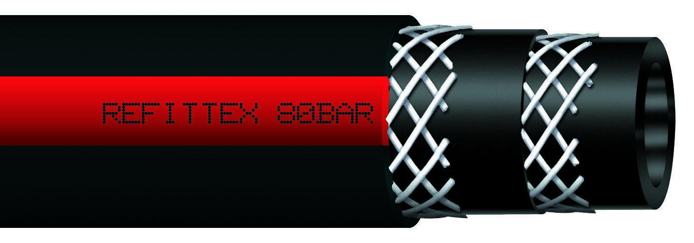 Rollos 100 MT Tubo de Goma para Pulverización Irrifazione 80 Barra 10x18mm Agua