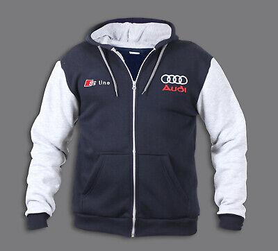 Audi S Line Sweatjacke mit Kapuze XXL: : Bekleidung