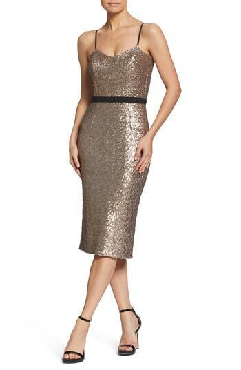 NWOT DRESS THE POPULATION damen Rosa 'EMMA' SEQUIN PARTY DRESS Größe S
