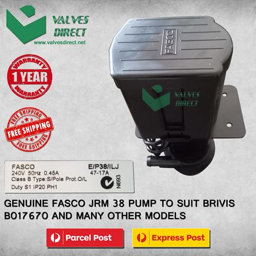 Fasco JRM 38 Pump Brivis Part No. B017670 Evaporative Cooler - Genuine Part