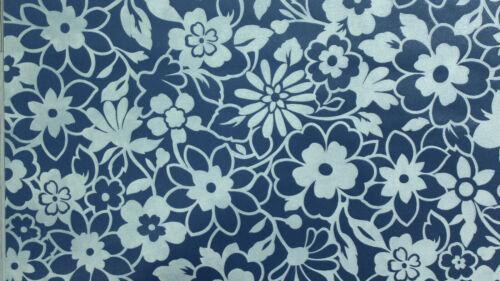 1 Rolle Vliestapete Vernissage 9093-50 Blau-Silber Floral scheuerbeständig 70 cm
