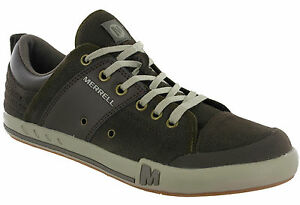 Image is loading Merrell-Rant-Dash-Casual-Leather-Suede-Lace-Cushioned-
