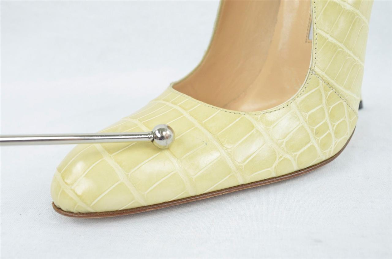 MANOLO BLAHNIK BLAHNIK BLAHNIK damen Cream Crocodile Croc High Heel Pump schuhe 10.5-40.5 05d4fa