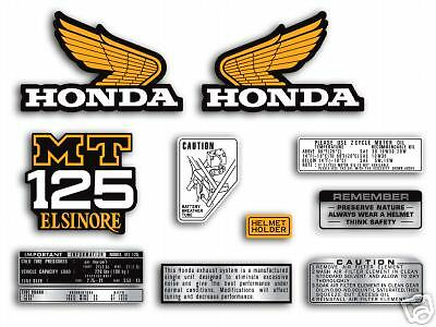 1975 Honda MT125 Elsinore side panel decal