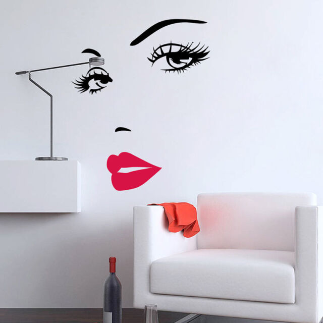 Diy Girls Eyelashes Eye Wall Decal And Red Lips Wall Sticker For Beauty Salon And Make Up Wall Decor Wall Decoration Decals Wall Decoration Sticker From Carrierxia 5 27 Dhgate Com