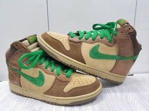 Brand New Nike SB Dunk High Premium Deck Woodgrain Tweed Brown Green ... 3b1cef4395df