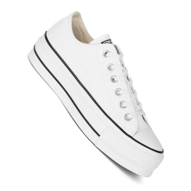Converse Chucks with Plateau Sole Ctas Lift Platform Women's Sneakers White
