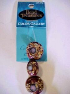 Beads-Millefiore-Amethyst-and-Purple-374975-Bead-Treasure-039-s-Color-Gallery-NEW