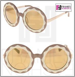 0c194a6d21b8 MARKUS LUPFER LINDA FARROW Round Caramel Honey Gold Mirrored ML11 ...