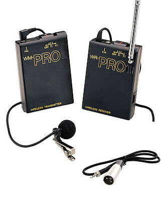 Pro WLM XLR M wireless lavalier mic for Canon XF305 XF300 XF205 XF105 HD audio