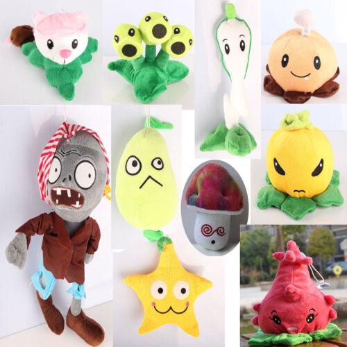 2017 New Plants vs Zombies 2 Figures Plush Staff Toys  10PCS