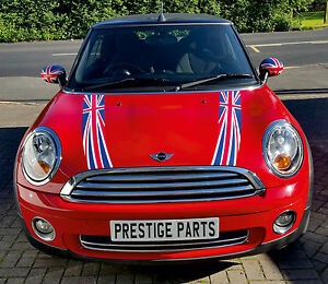 Union Jack Bonnet Stripes Amp Rear Number Plate Decal Kit