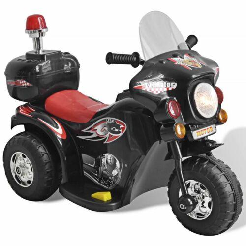 vidaXL Moto per Bambini a Batteria Nera Giocattolo Motocicletta Cavalcabile