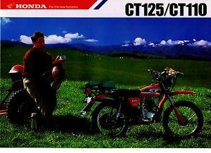 1987 HONDA CT125 CT110 4 Page Motorcycle Brochure -  NOS