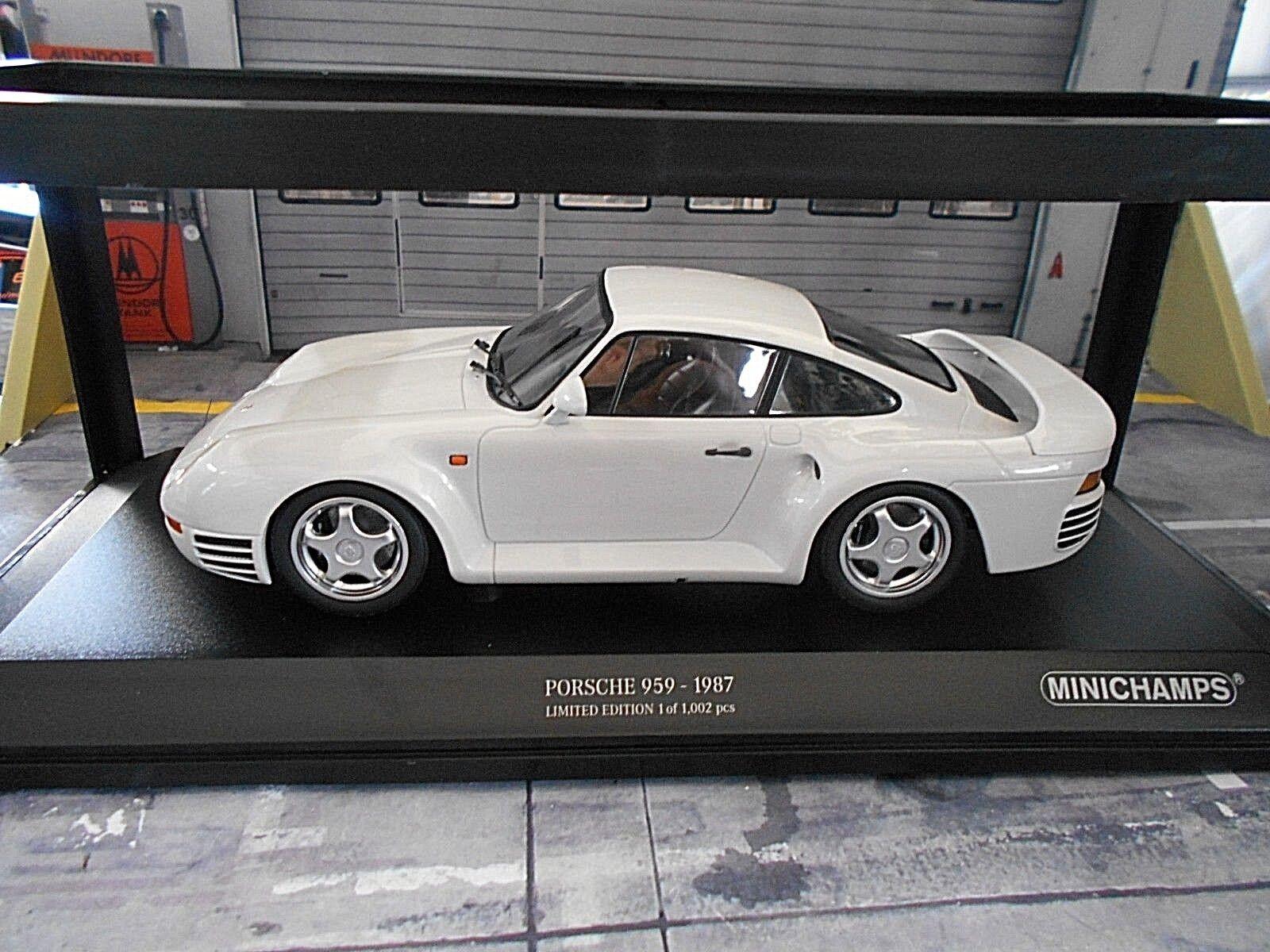 Porsche 959 4x4 Taille B Coupe blanc 1987  Promotional Minichamps 1 18  vente de renommée mondiale en ligne