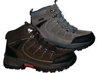 MENS WATERPROOF BROWN & GREY LEATHER  WALKING/HIKING/WORK/WINTER/SNOW BOOTS 7-12