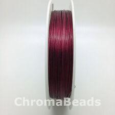 50m roll Tiger Tail - Burgundy - 0.45mm (dark red) beading wire