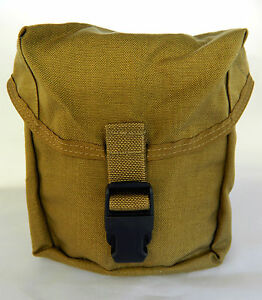 U-S-M-C-IFAK-FIRST-AID-POUCH-COYOTE-USED-PREPPERS-SPORTSMAN