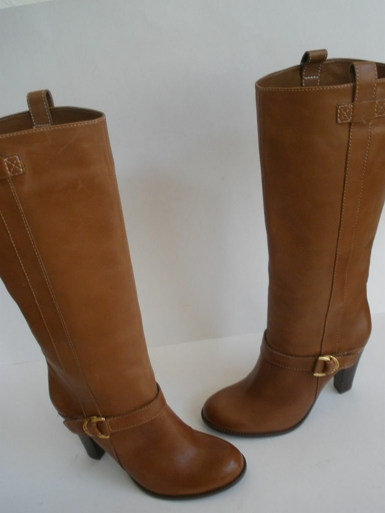 RALPH LAUREN KNEE HI BOOTS 6  EUR 36 NEW