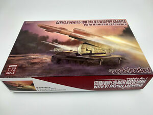 Maquette-char-German-Panzer-lance-missile-avec-missile-V1-modelcollect-1-72
