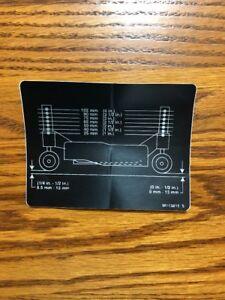 Details about John Deere 318 Mower Deck Decal wheel adjust 16