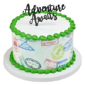 Astonishing Graduation Adventure Awaits Baby Shower Cake Topper Oh The Places Funny Birthday Cards Online Hetedamsfinfo