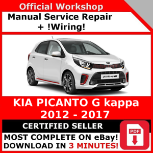 factory workshop service repair manual kia picanto g 2012 2017 ebay rh ebay co uk kia picanto 2013 workshop manual kia picanto 2008 service manual