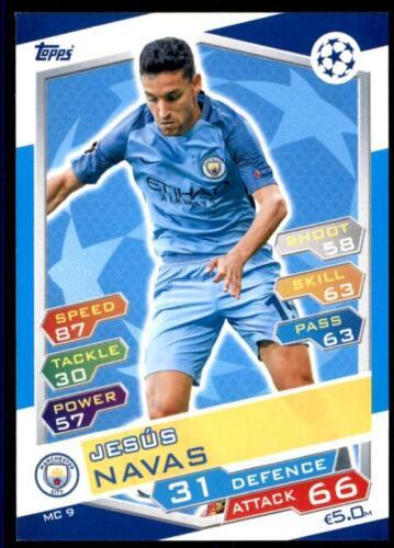 Match Attax Champions League 16//17 Jesús Navas Manchester City NO MC9