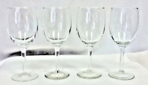 Wine-glasses-set-of-4-footed-stemmed-glass-bar-glassware-unbranded-wines-JF1