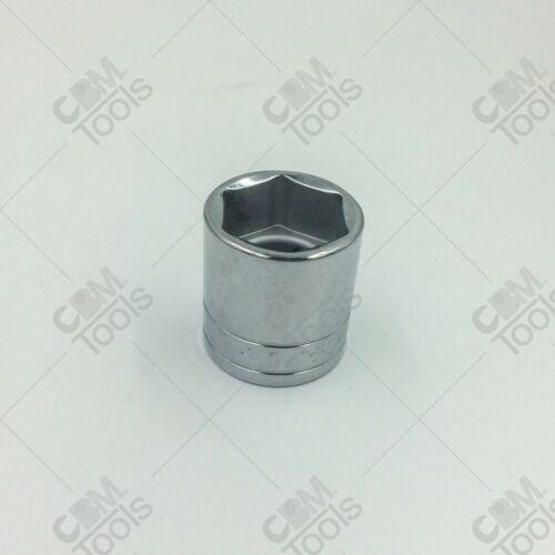 """SK Hand Tools 41138 1//2/"""" Dr 1-3//16/"""" 6pt Standard Fractional Chrome Socket"""