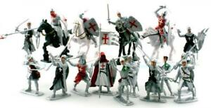Plastic-Toy-Soldiers-Templar-Knights-Crusaders-16-Painted-Figures-3-034-FREE-SHIP
