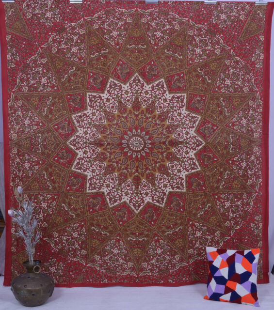 Indian Star Hippie Mandala Psychedelic Wall Hanging Tapestry Gypsy Throw Ethnic