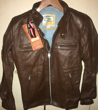 -NEW- NWT Vintage Brimaco Cafe Racer Leather Motorcycle Jacket Mens or Womens