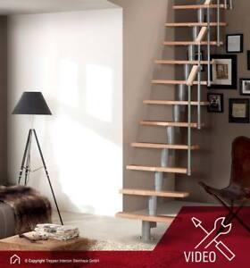 Das Bild Wird Geladen Raumspartreppe Mittelholmtreppe Holztreppe Treppe Buche