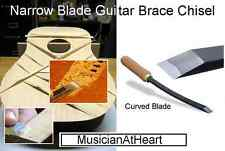 """MusicianAtHeart 1/8"""" Curved Blade GUITAR BRACE CHISEL Bent Blade Luthier Tool"""