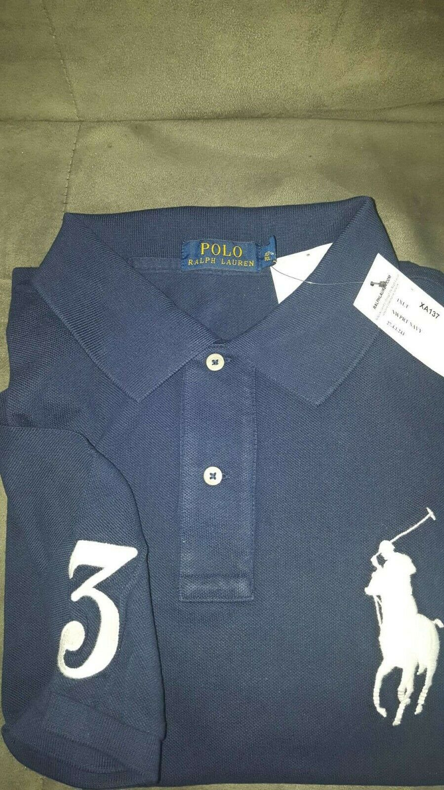 Mens Polo Ralph Lauren  short sleeve polo T shirt size 1XLT colour NAVY