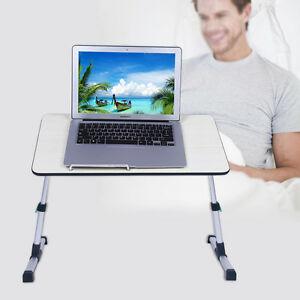 Adjustable Height Laptop Stand Desk Computer Table Sofa Breakfast