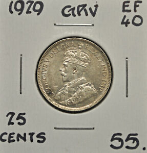 1929-Canada-25-cents-EF-40