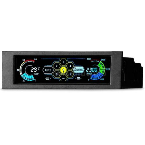5 Channel Computer Fan Controller Automatic Speed Control /& LCD Touchscreen O7D0