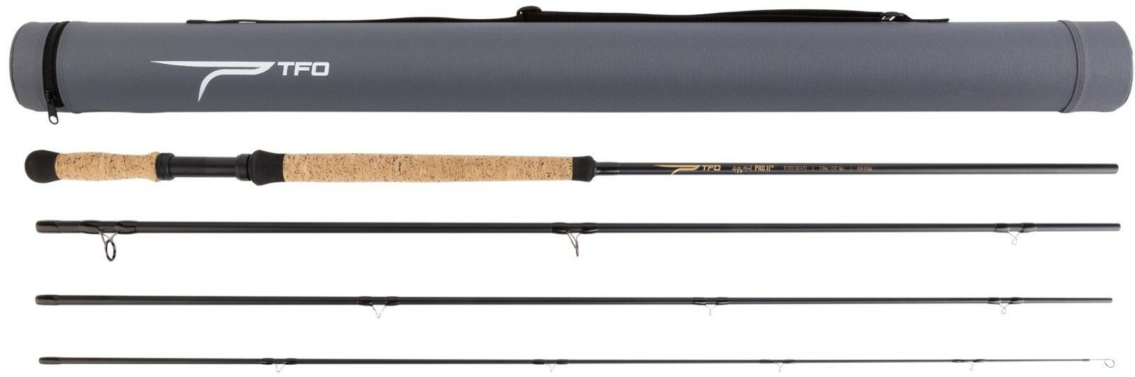 Tfo temple Fork Outfitters Profesional Serie II 12' 6   6 7 P caña Spey para mosca 4PC