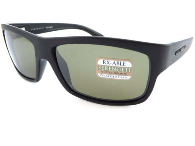 SERENGETI - MARTINO Polarized Photochromic Sunglasses Black / 555nm Green 7994