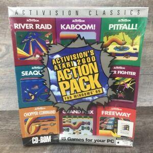 Activision-Klassiker-Atari-2600-PC-Windows-CD-ROM-Spiel-Versiegelt-IBM-Big-Box-Spiele