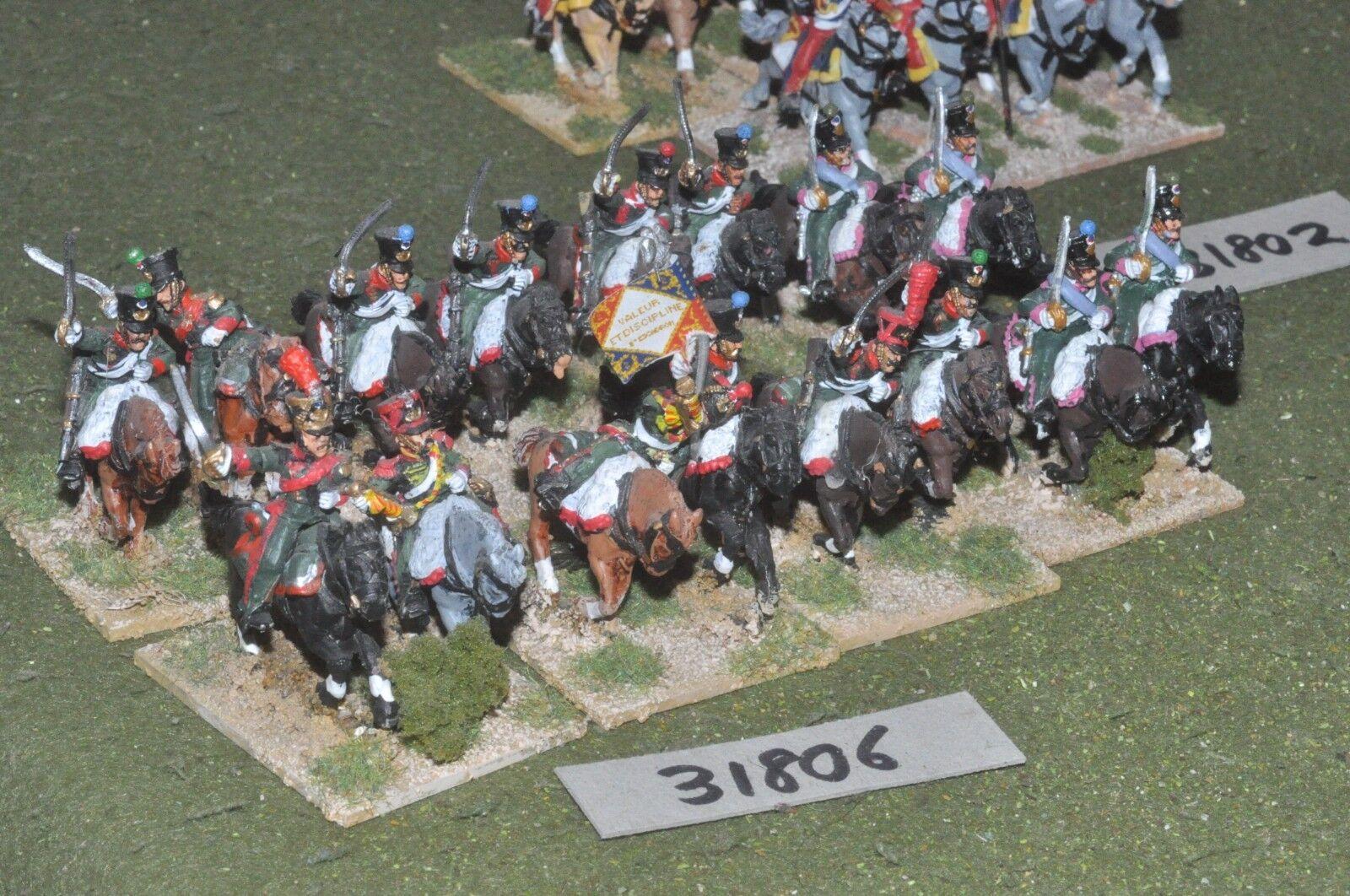 25mm napoleonic   french - chevaux leger 16 16 16 figures - cav (31806) d3c1c1